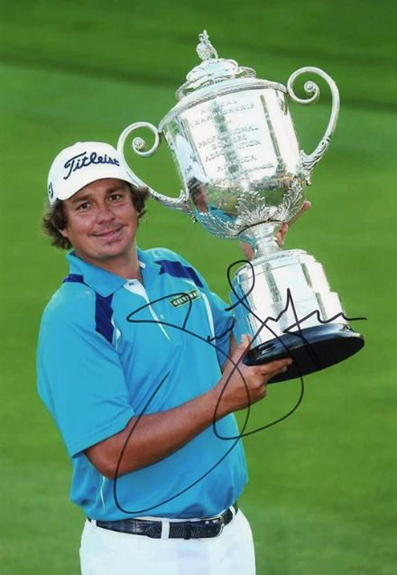 Jason Dufner, signed 12x8 inch photo.